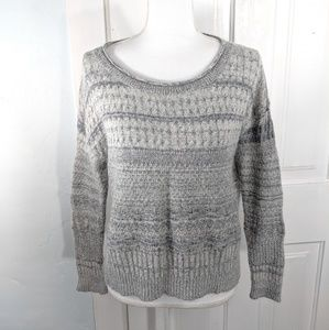 Sparrow Anthropologie L Sweater Gray Light Cropped